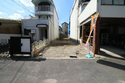 神光院前バス停徒歩1分・建築条件なし売土地