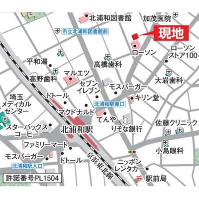 【地図】スバルレジデンス北浦和