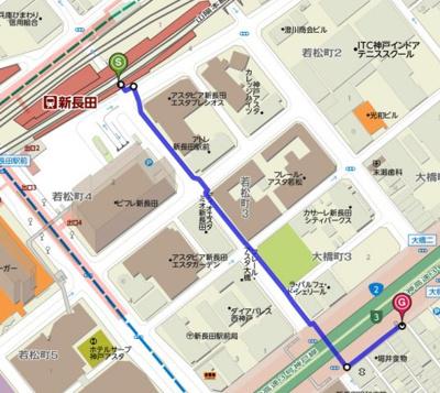 【地図】朝日プラザツインテージ神戸EAST