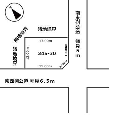 【土地図】白老郡白老町字北吉原345番30 売土地