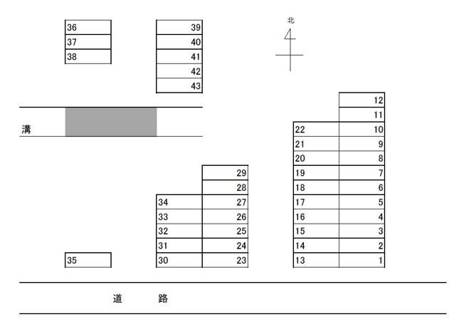 【区画図】算所町月極駐車場