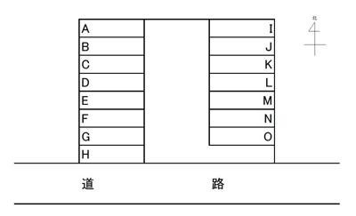 【区画図】みずほ台月極駐車場