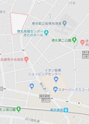 【地図】MAXIV東武練馬