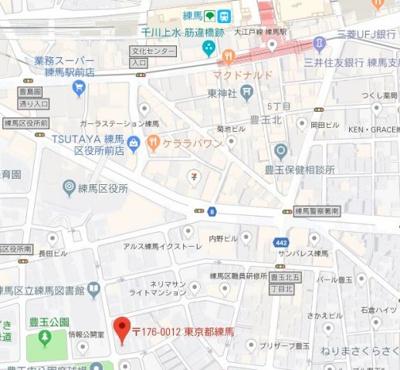 【地図】スカイコート練馬壱番館