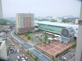 JR久留米駅が見えます