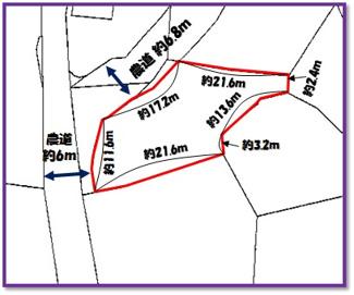 【区画図】中城村字泊(398.39坪)計3筆