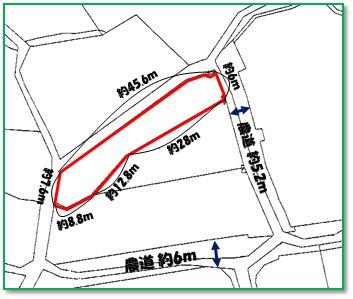 【区画図】中城村字泊(123.42坪)