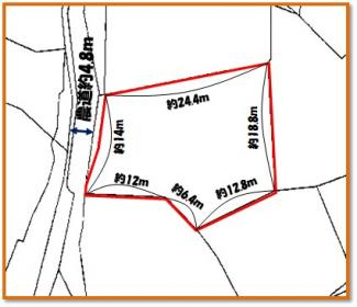 【区画図】中城村字泊(155.18坪)