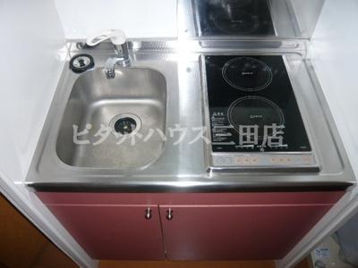 【キッチン】レオパレスMaeda2