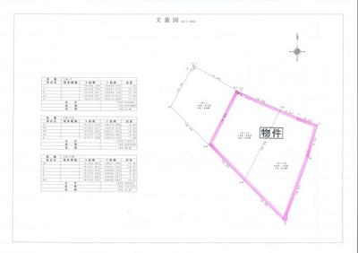 【区画図】津山市加茂町塔中 売土地136坪