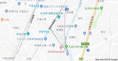 【地図】香露園戸建