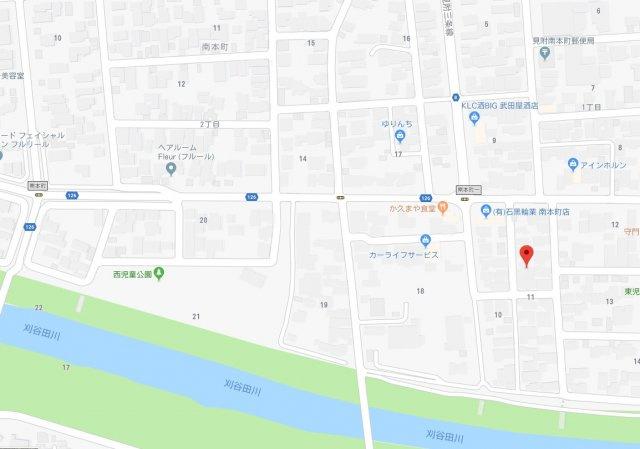 【地図】南本町1丁目土地