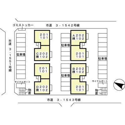【地図】ムーン・コート A