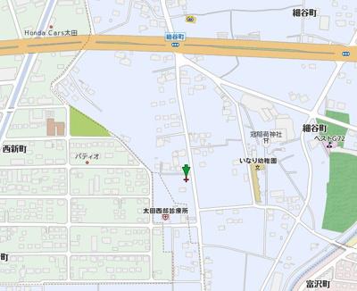 【地図】太田市細谷町売地