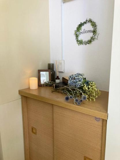 玄関から室内への景観です☆キッチンと洋室の間には扉があります!お部屋にお料理の匂いがこもりませんね♪