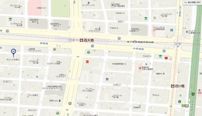 【地図】ダイドーメゾン大阪北堀江
