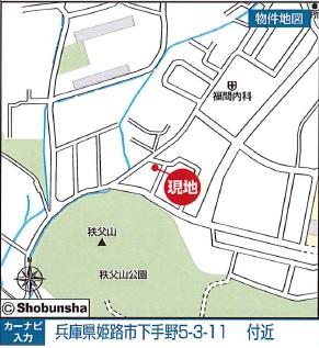 【地図】下手野新築戸建て