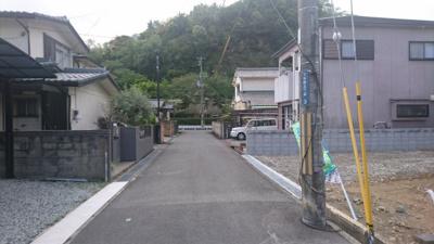 【前面道路含む現地写真】下手野新築戸建て