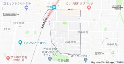 【地図】ハイムミニョン西中条