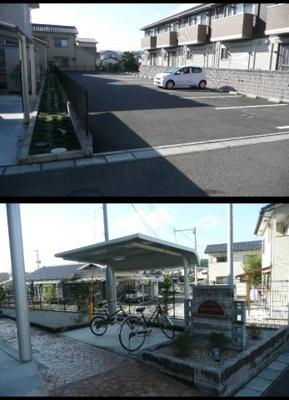 自転車置き場もあります♪