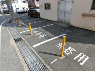 来客用スペースの駐車場 いいですね