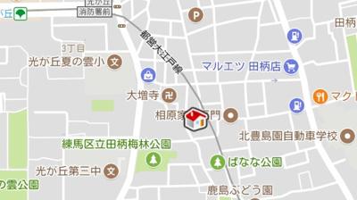 【地図】レオパレスビレッジ光が丘壱番館(7021-210)