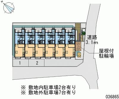 【地図】ジュネスレオーノ
