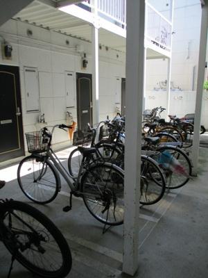 みんな自転車はここに置いてる~