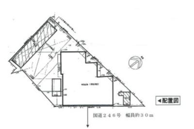 【区画図】国道246号沿いロードサイド店舗作業所