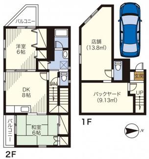 1階店舗・2階住居 延べ78.52㎡