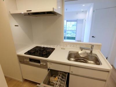 【キッチン】仲介手数料無料■ニューパークハイツ 14階 最上階 リノベーション済