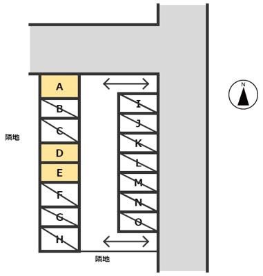 【区画図】榎生(よのう)1丁目【鶴見】駐車場