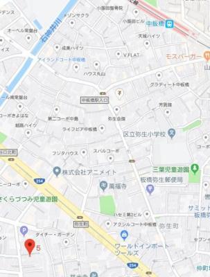 【地図】ジースタイル中板橋