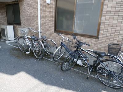 WIN VILLAGE21の自転車置き場