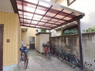 屋根付き駐輪場(無料!)