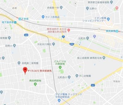 【地図】スカイコート練馬平和台