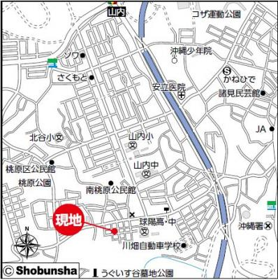 【地図】沖縄市南桃原戸建