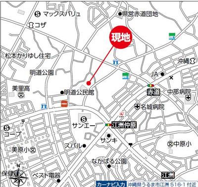 【地図】うるま市江洲戸建