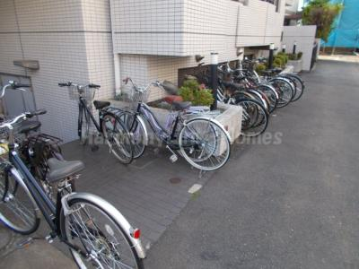 ペガサスマンション十条の駐輪スペース