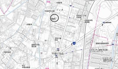 【地図】中島 借地