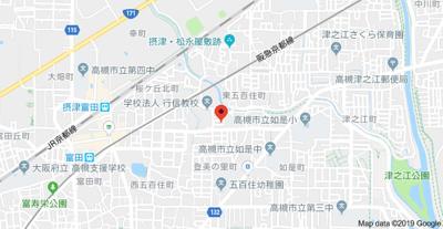 【地図】東五百住町3丁目貸家 (株)Roots