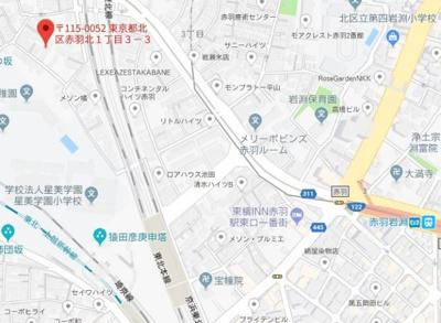 【地図】エルスタンザ赤羽