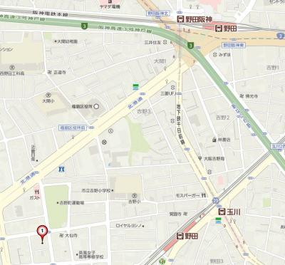 【地図】レジュールアッシュ福島CUEZ