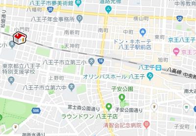 【地図】レオパレスハピネスオリーブ(45912-202)