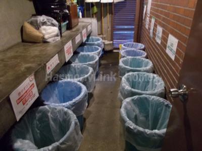グランメール池袋のゴミ置き場