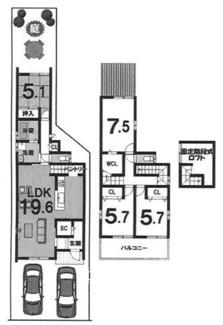建物参考プラン延床面積:92.58平米