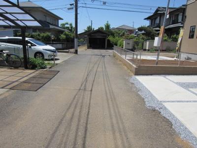 【前面道路含む現地写真】荒川沖東2期2号棟 ケイアイフィット建物地盤保証の家