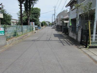 【前面道路含む現地写真】牛久市栄町 建築条件無し
