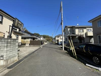 【前面道路含む現地写真】つくば市中別府