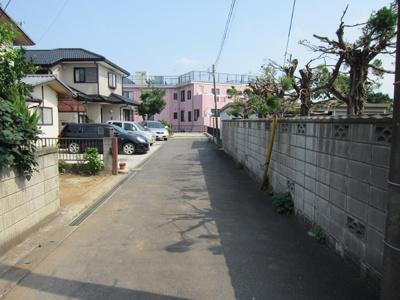 【前面道路含む現地写真】土浦市天川 約190坪